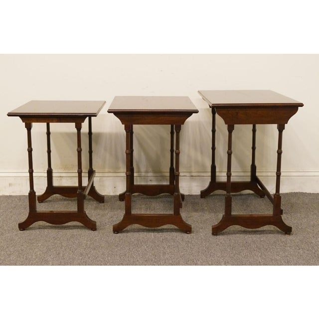 Ethan Allen Georgian Court Nesting End / Accent Tables - Set of 3 For Sale - Image 9 of 13