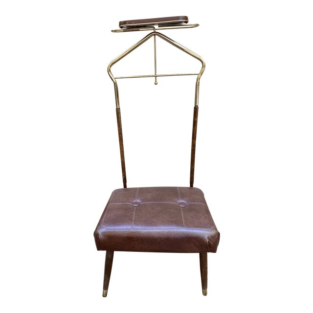 Mid Century Pearl-Wick Valet Stand For Sale