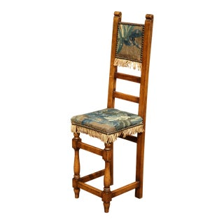 18th Century French Walnut Baby Chair With Aubusson Tapestry For Sale