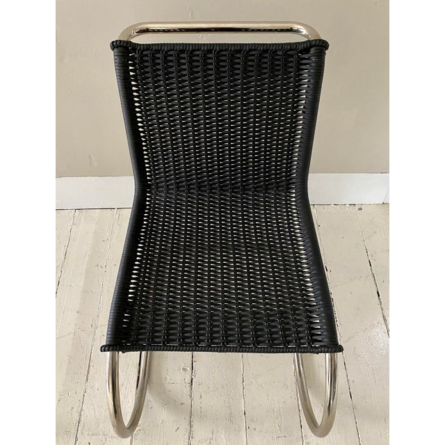 Metal Mies Van Der Rohe Side Chairs- a Pair For Sale - Image 7 of 11