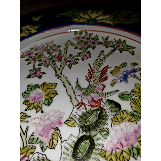 19th Century 1880s Antique Qing Dynasty Tongzhi Porcelain Plate For Sale - Image 5 of 11