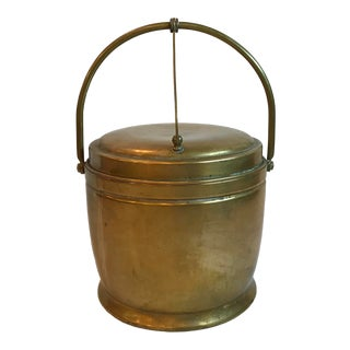Vintage Brass Ice Bucket For Sale