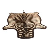 Image of 1960s Vintage Burchell Zebra Rug For Sale