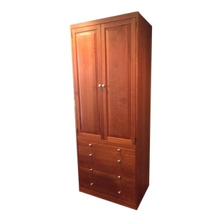 Traditional Style Cherrywood Wardrobe For Sale