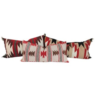 Navajo Indian Saddle Blanket Pillows - Set of 3 For Sale