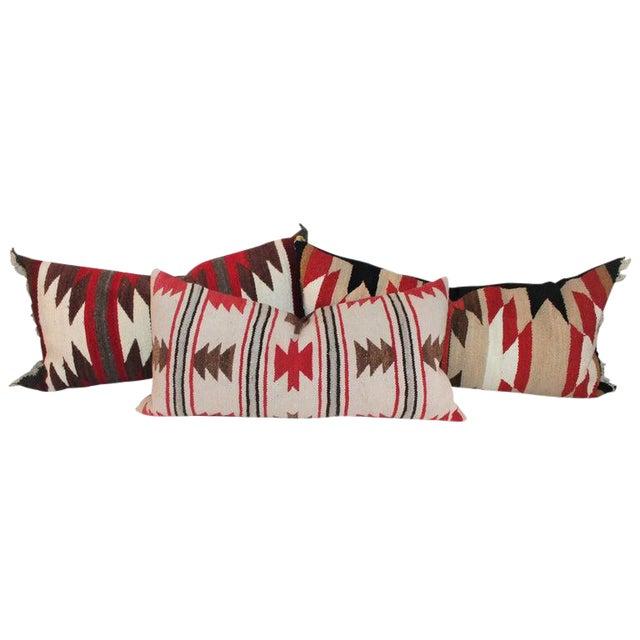Navajo Indian Saddle Blanket Pillows - Set of 3 For Sale