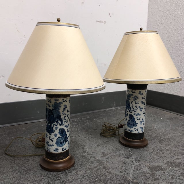 Pair of Antique Ming Dynasty Vase Table Lamps For Sale - Image 12 of 13