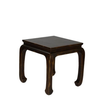 Chinese Elmwood Side Table For Sale