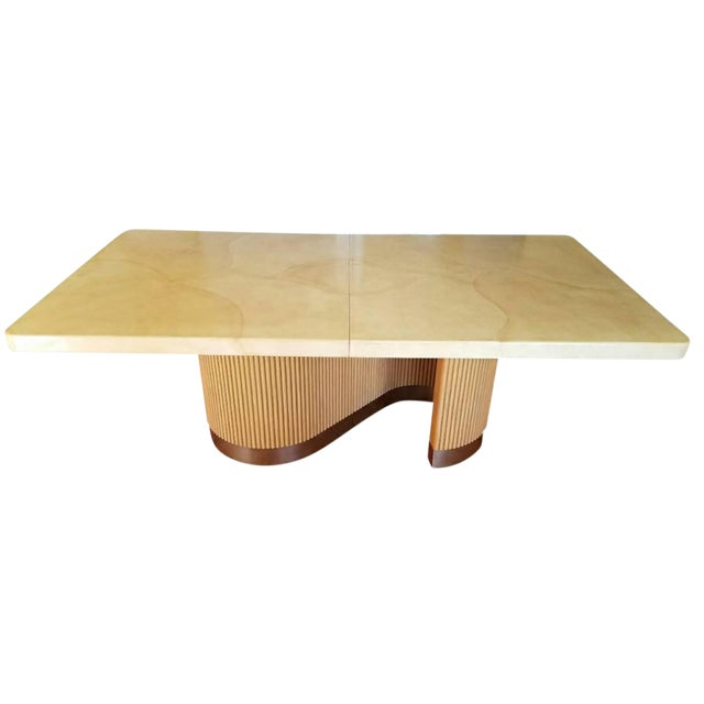 Extendable Lacquered Dining Table Attributed to Steve Chase For Sale