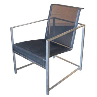 Brown Jordan Brushed Aluminium Tubular Patio Lounge, circa 1980