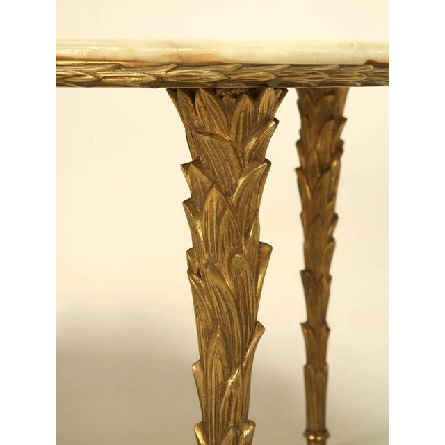 Maison Bagues Bronze Coffee Table With Onyx Top For Sale - Image 10 of 10