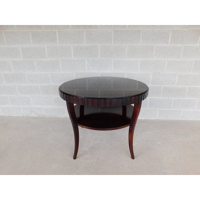 "Wood Baker Barbara Barry Collection Mahogany Center Table 37""w For Sale - Image 7 of 9"