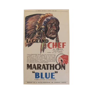 1932 Art Deco Montreal Native Chief Print For Sale