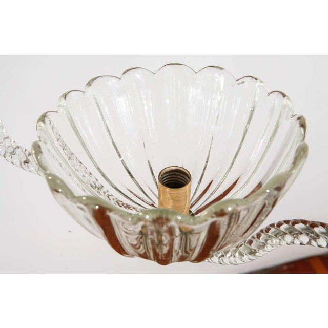 Transparent Murano Fixture by Barovier E Toso For Sale - Image 8 of 9