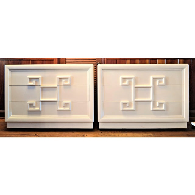 Mid-Century Modern Kittinger Mandarin Greek Key Chests of Drawers - a Pair For Sale - Image 3 of 13