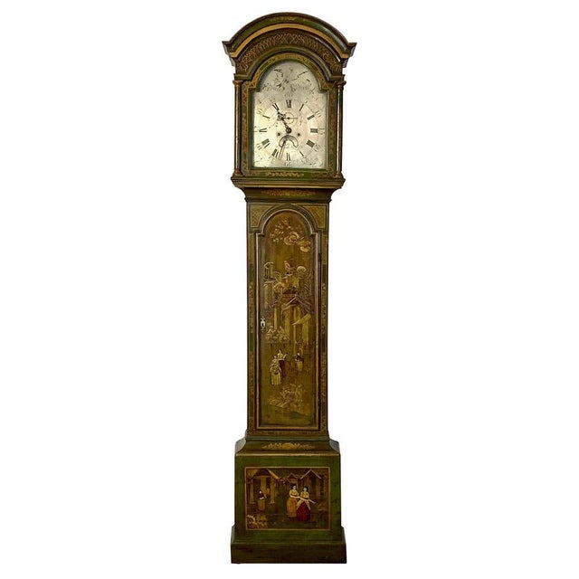 George III Chinoiserie Decorated Long Case Clock For Sale - Image 13 of 13