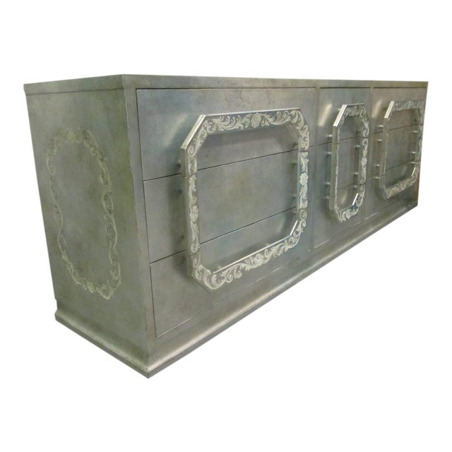 Silver Leaf Dresser in the style of James Mont For Sale