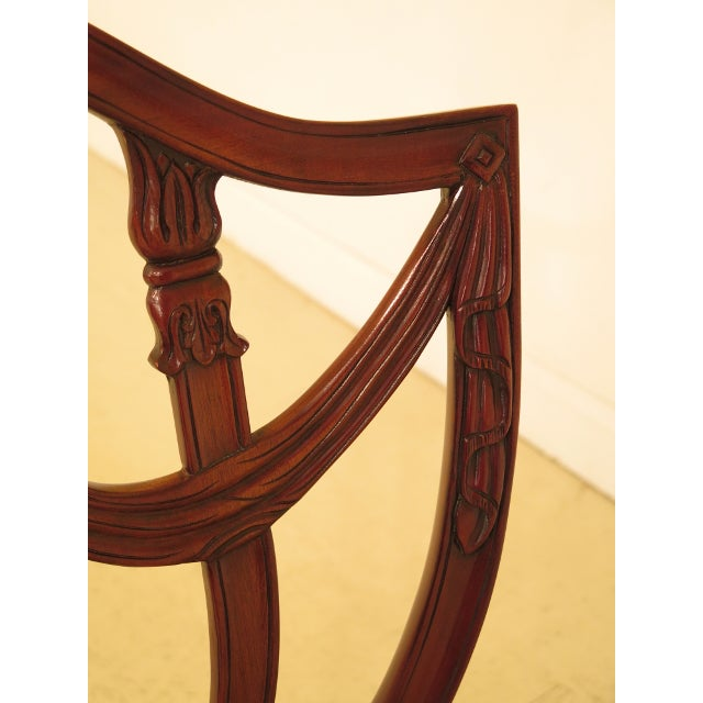 Maitland Smith Carved Mahogany Dining Room Chairs - Set of 4 For Sale In Philadelphia - Image 6 of 13