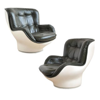 "Pair of Michel Cadestin ""Karate"" Lounge Chairs by Airborne For Sale"