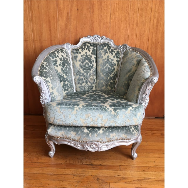 Victorian Carved Barrel Back Chair - Image 2 of 6