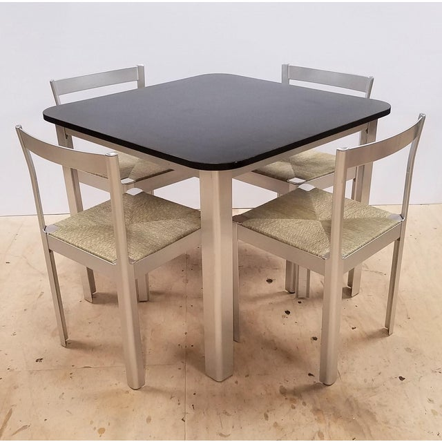 1980s Hank Loewestein Italian Dining Table & Chairs For Sale - Image 13 of 13