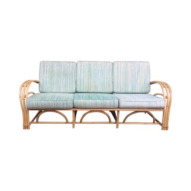 Fick Reed Co. Rattan Sofa - Image 1 of 6