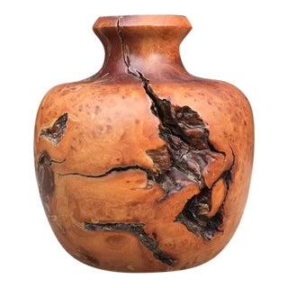 Wood Burl Bud Vase For Sale