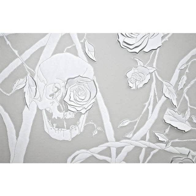 Skulls and Roses - framed sculpted leather artwork by Helen Amy Murray - Image 2 of 6