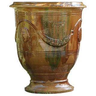 19th Century Vintage Vase d'Anduze For Sale