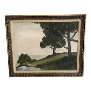 1940s Vintage Newcomb Macklin Oil on Canvas Landscape Painting For Sale