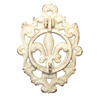 Vintage French Fleur de Lys Iron Door Knocker