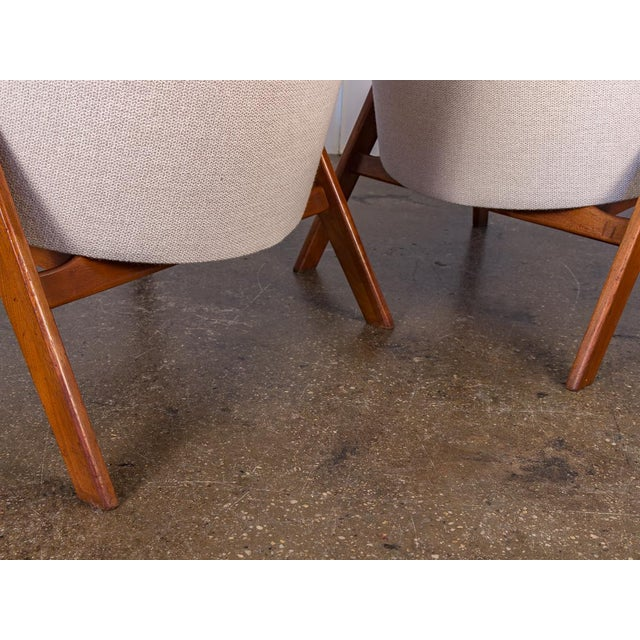 Wood Spectacular American Walnut Armchairs- A Pair For Sale - Image 7 of 11