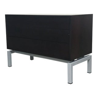 Modern Cassina 3-Drawer Dresser With Metal Base