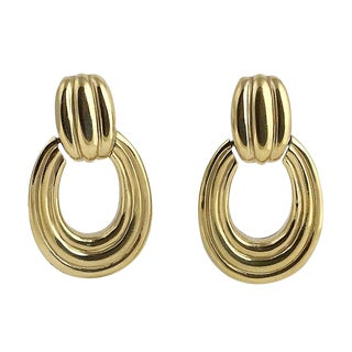20th Century Contemporary Ciner Door Knocker Earrings - a . Pair For Sale