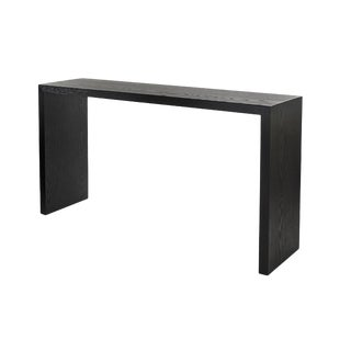 Jefferson Black Wood Waterfall Console For Sale