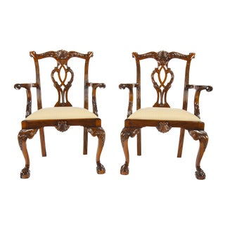 Chippendale Philadelphia Arm Chairs - a Pair For Sale