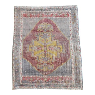 Hand Knotted Door Mat, Entryway Rug, Bath Mat, Kitchen Decor, Small Rug, Turkish Rug - 2′ × 2′6″ For Sale