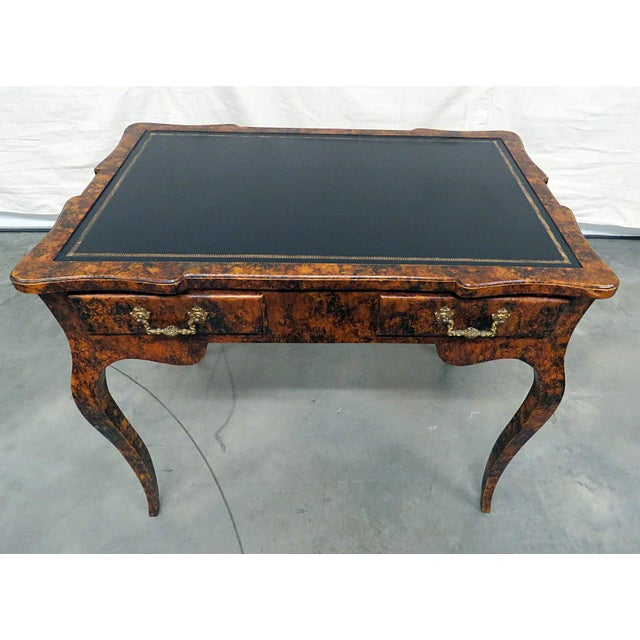 Directoire Style Leather Top Writing Desk For Sale - Image 9 of 9