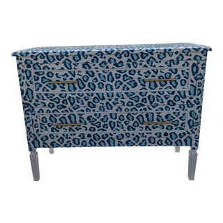 Luxecycled Blue Cheetah Dresser For Sale