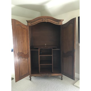 1990s Vintage Brown Armoire Preview
