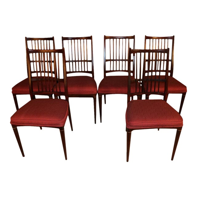 6 Svante Skogh Rosewood Cortina Dining Chairs For Sale