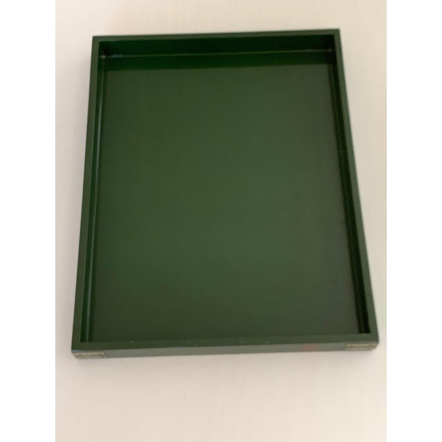 """Roe Kasian, """"British Racing Car Green"""" Lacquer Tray - 1970's For Sale - Image 4 of 11"""