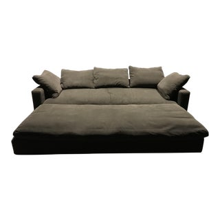 Landon Cole Custom Grey Sofa & Ottoman - A Pair