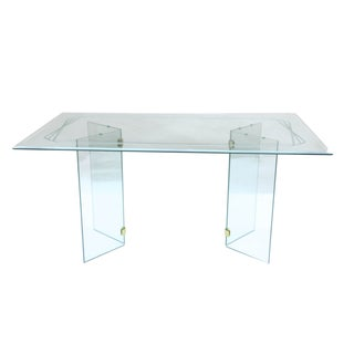 Pace-Style Mid-Century Glass Dining Table For Sale