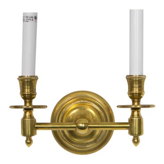 Visual Comfort French Library Double Sconce in Antique Brass - Showroom Sample For Sale