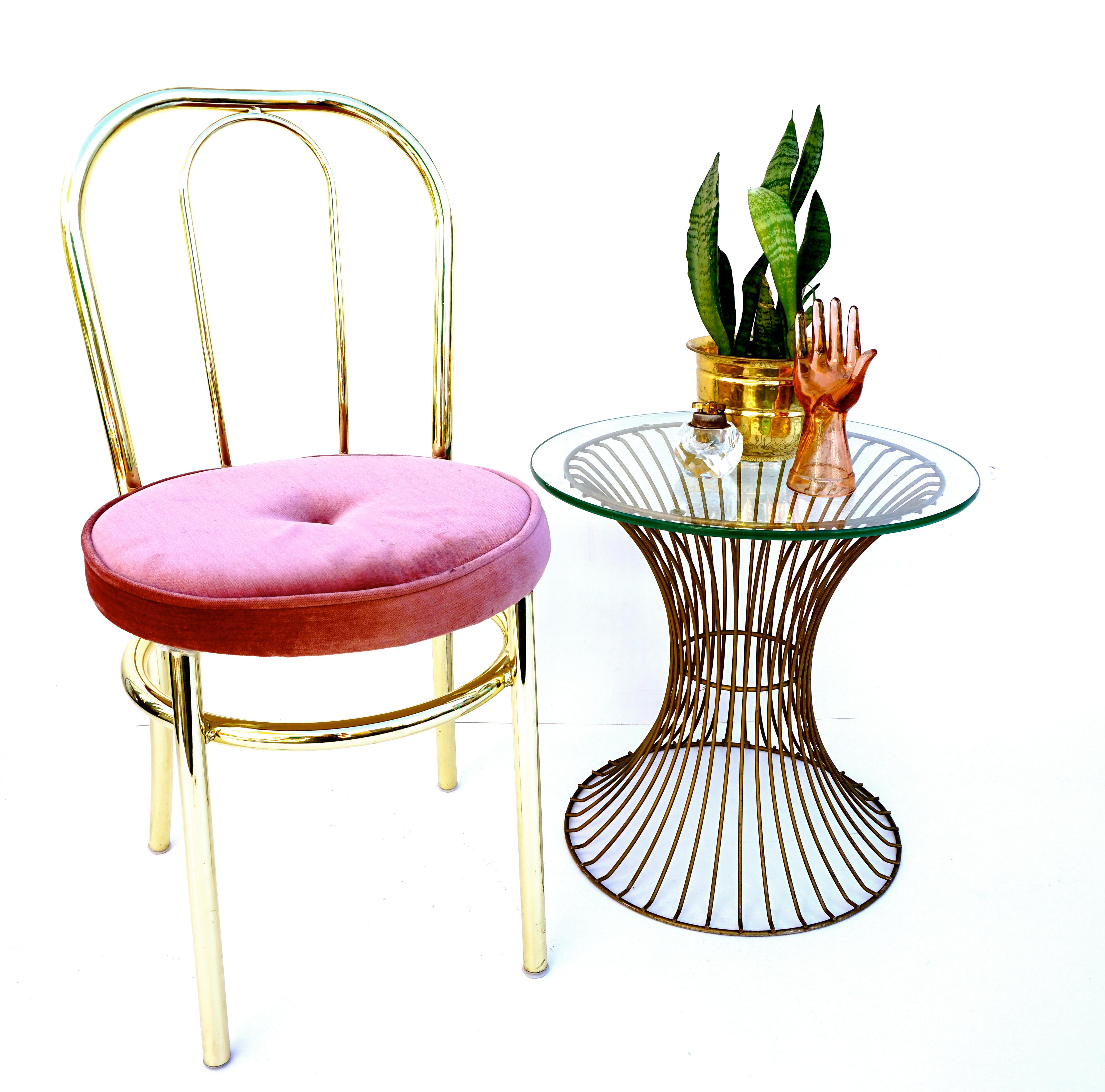 Hollywood Regency Vintage George Koch Hollywood Regency Brass Chair For  Sale   Image 3 Of 10