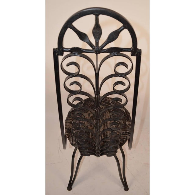 1960s Stylish Wrought Iron Chair After Umanoff For Sale - Image 5 of 6