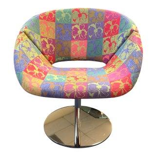 1970s Retro Chrome Swivel Chair For Sale