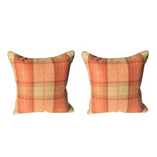 Zoffany Woodford Plaid Pillows - a Pair For Sale