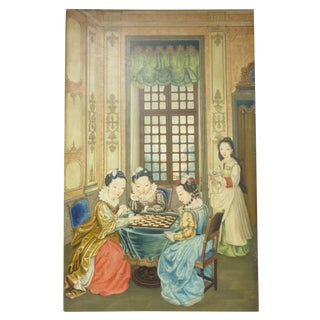 Chinese Game Players Painting